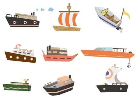 yacht isolated: icono de barco de dibujos animados
