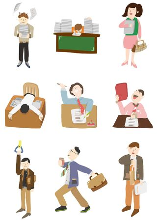 office staff: cartoon worker icon