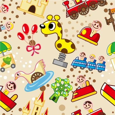 seamless playground pattern Stock Vector - 8639259