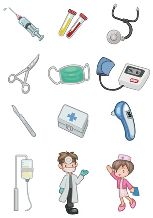 doctor symbol: cartoon hospital icon Illustration