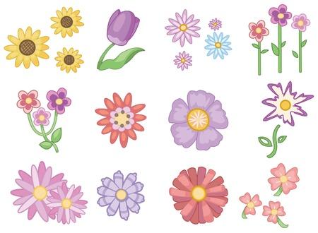 flower icon: cartoon flower icon Illustration