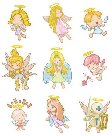 angel cartoon: cartoon angel icon Illustration