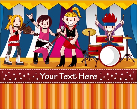 rock band card Vector