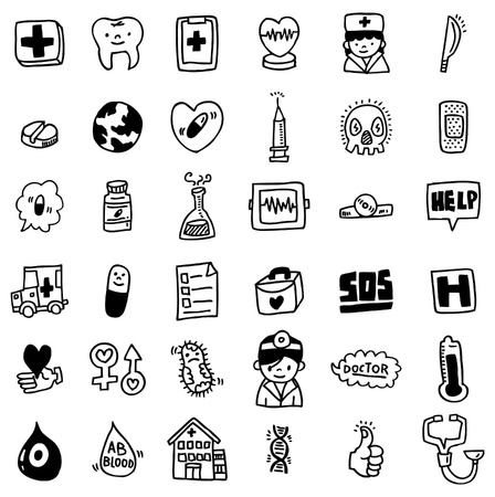 cartoon hospital icon Vector