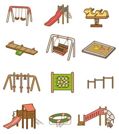 playground equipment: cartoon playground icon  Illustration