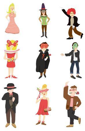 cartoon mask party icon  Vector