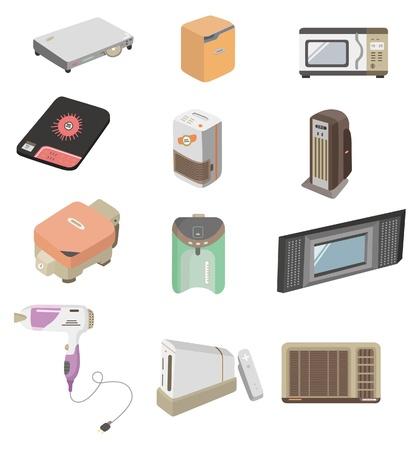 cartoon home appliance icon  Vector