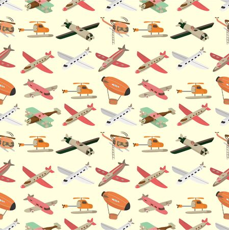 airship: seamless airplane pattern  Illustration