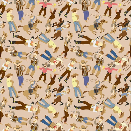seamless west cowboy pattern  Vector