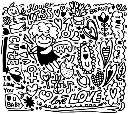 hand draw cartoon love element  Stock Vector - 8659109