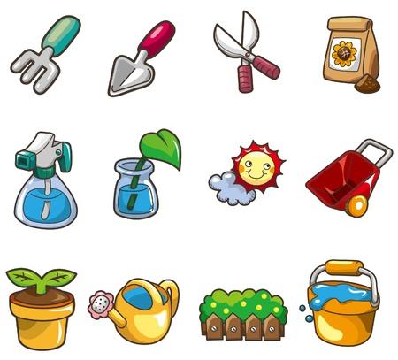 cartoon Gardening icon Vector