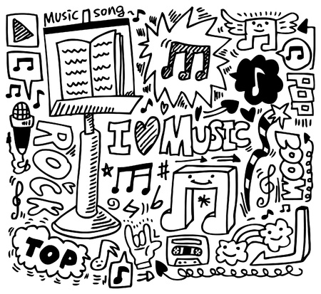 hand draw music element Stock Vector - 8659128