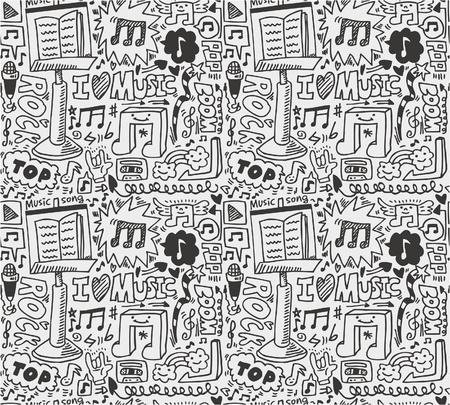 note musicali: pattern di musica senza saldatura