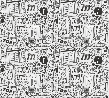 musical notes: seamless music pattern