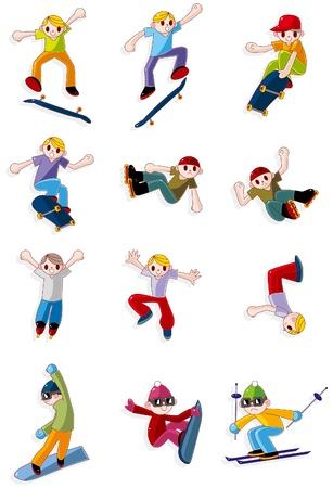 cartoon Extreme sport icon  Vector