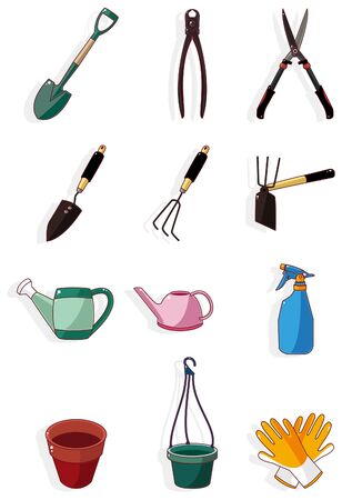 gardening tool: cartoon Gardening icon  Illustration