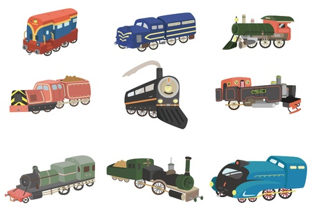 cartoon train  icon Vector
