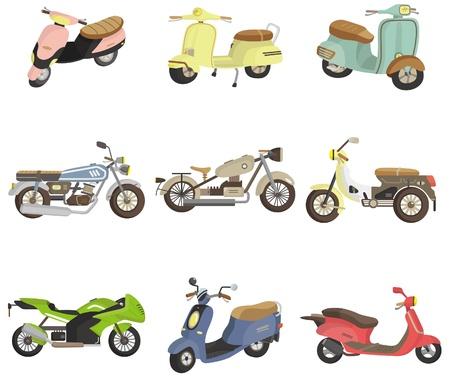 cartoon motorcycle icon Vector