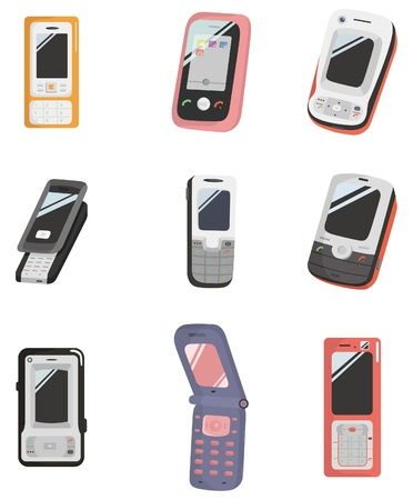 cartoon Mobile phone icon Stock Vector - 8713437