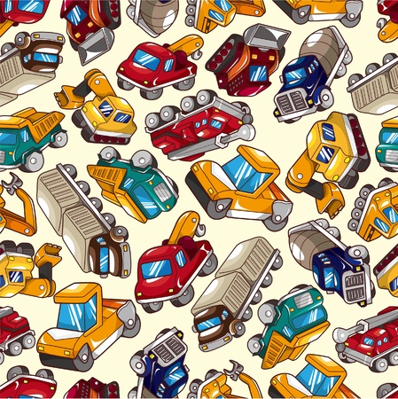 quarry: seamless truck pattern