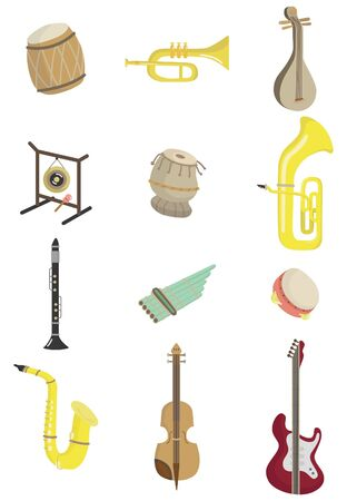 music instrument: cartoon musical instrument icon