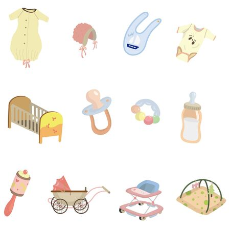 clip art draw: cartoon baby element icon  Illustration