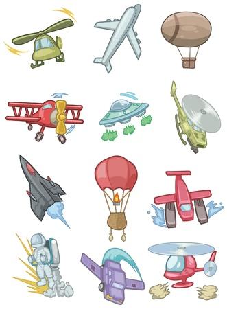 dirigible: cartoon aircraft icon
