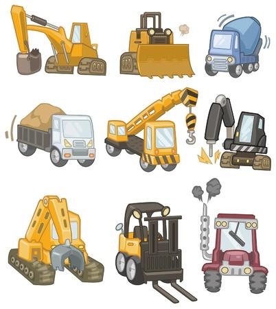 экскаватор: значок мультфильм грузовик