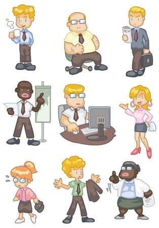 cartoon worker: icono de trabajador de dibujos animados Vectores