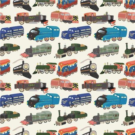seamless train pattern  Stock Vector - 8713468