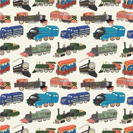 coal truck: seamless train pattern