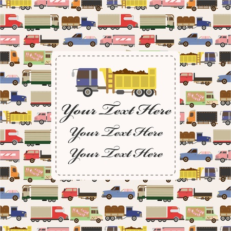truck car card  Vector