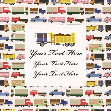 truck car card  Vector