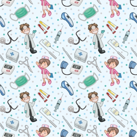 seamless doctor pattern Vector