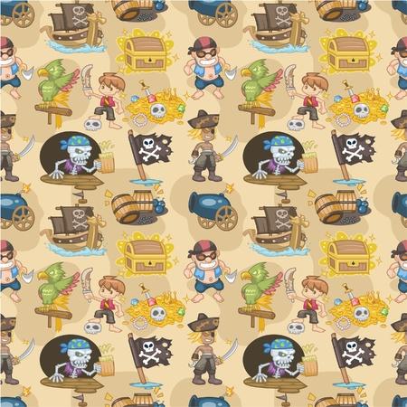 seamless pirate pattern Stock Vector - 8713474