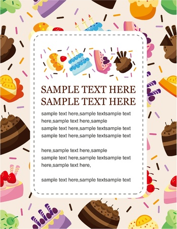 cartoon cake card Stock Vector - 8713469