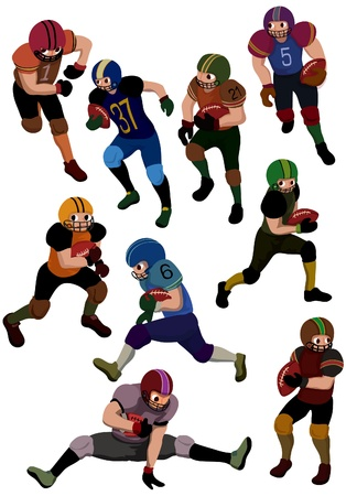 cartoon football icon Vector