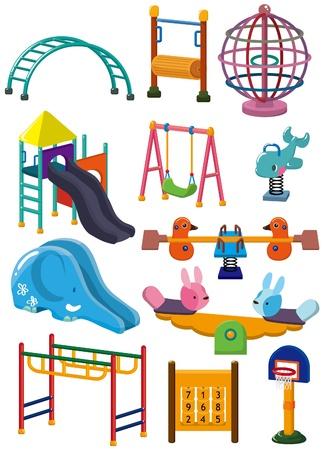 playground equipment: cartoon park playground icon