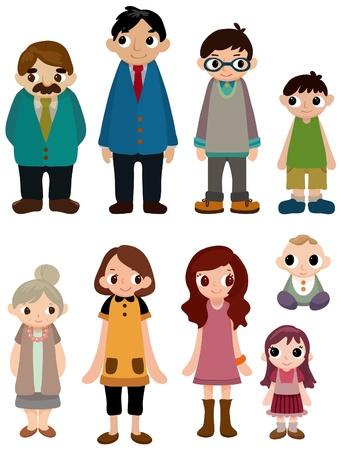 cartoon family icon Stock Vector - 8713476
