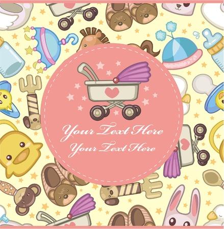 pezones: tarjeta de beb� de dibujos animados