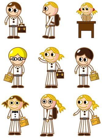 cartoon student icon Vector