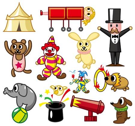 paloma caricatura: icono de circo de dibujos animados Vectores