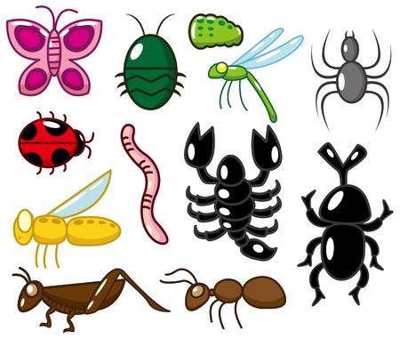 lombriz: icono de insectos de dibujos animados