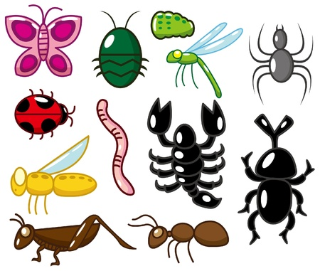 szarańcza: ikona owadów kreskówki Ilustracja