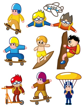 cartoon extreme sport icon Stock Vector - 8713493