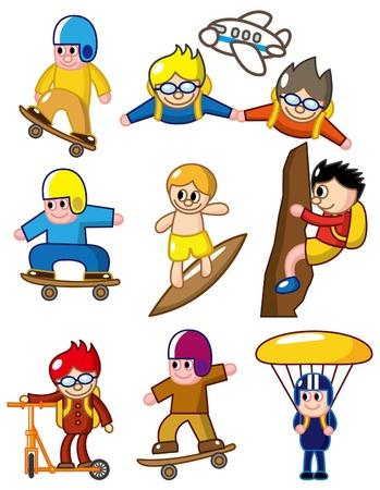 stunts: icona di sport estremo Cartoon