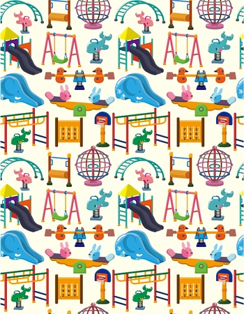 playground equipment: seamless park playground pattern