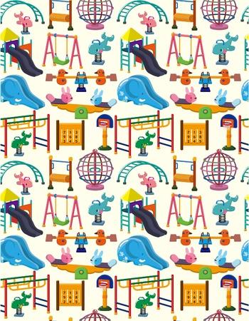seamless park playground pattern Stock Vector - 8713502