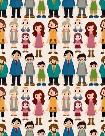 seamless family pattern 일러스트