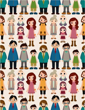 seamless family pattern Stock Vector - 8713501